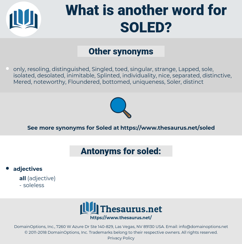 soled, synonym soled, another word for soled, words like soled, thesaurus soled