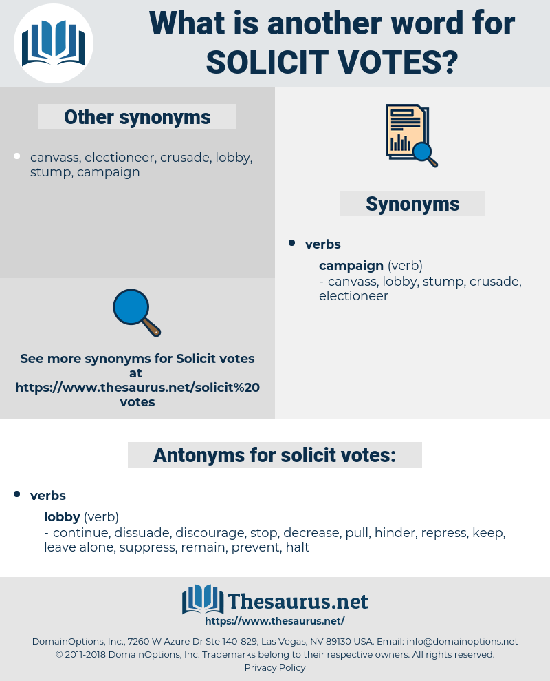 solicit votes, synonym solicit votes, another word for solicit votes, words like solicit votes, thesaurus solicit votes