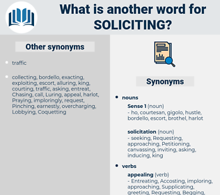 Soliciting, synonym Soliciting, another word for Soliciting, words like Soliciting, thesaurus Soliciting