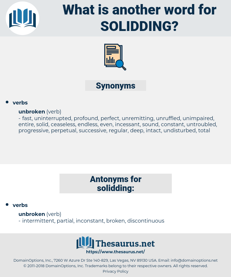 solidding, synonym solidding, another word for solidding, words like solidding, thesaurus solidding