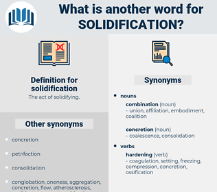 solidification, synonym solidification, another word for solidification, words like solidification, thesaurus solidification