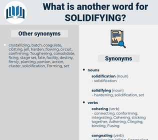 solidifying, synonym solidifying, another word for solidifying, words like solidifying, thesaurus solidifying