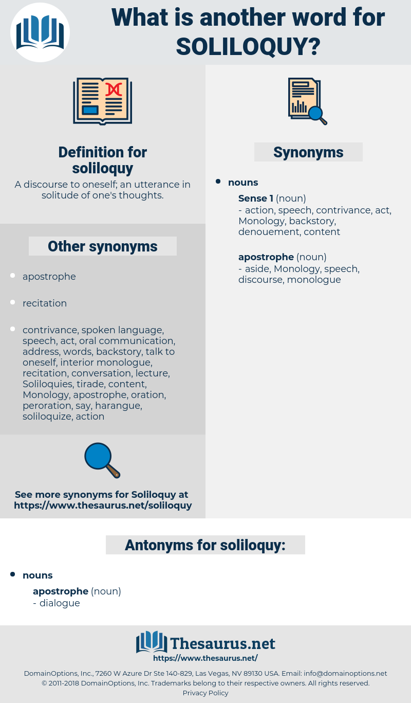 soliloquy, synonym soliloquy, another word for soliloquy, words like soliloquy, thesaurus soliloquy