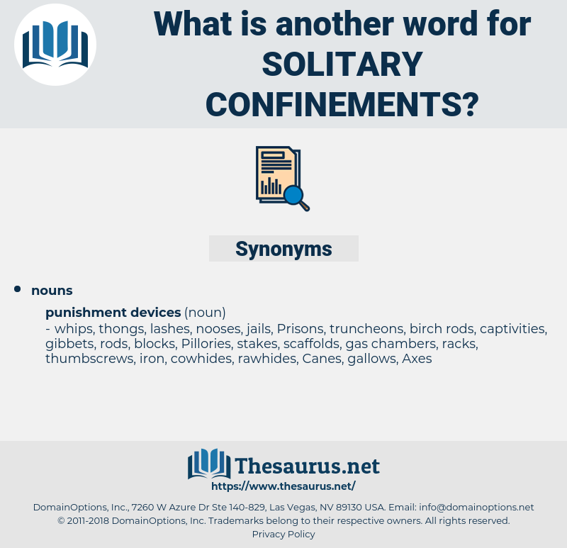 solitary confinements, synonym solitary confinements, another word for solitary confinements, words like solitary confinements, thesaurus solitary confinements