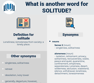 solitude, synonym solitude, another word for solitude, words like solitude, thesaurus solitude