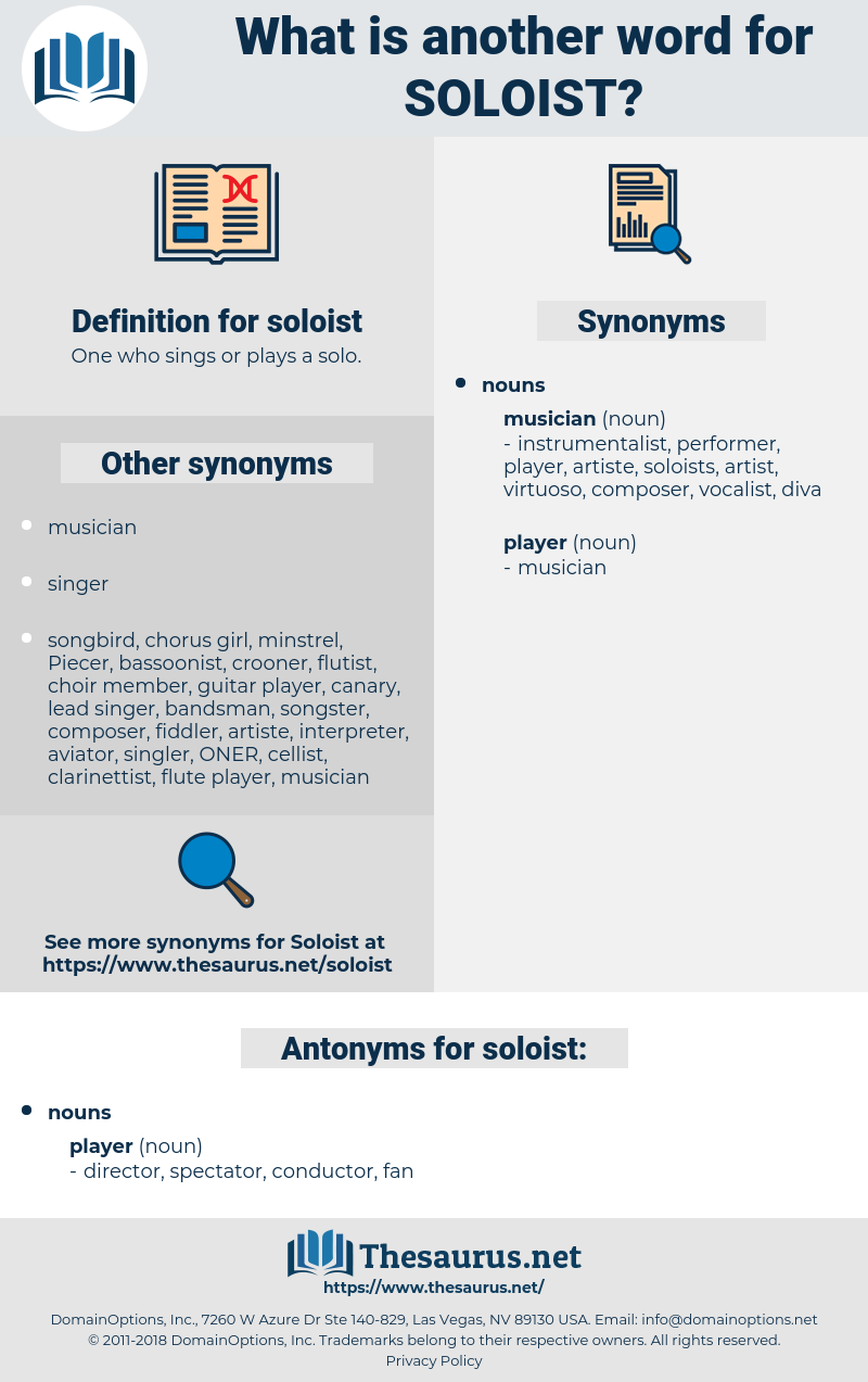 soloist, synonym soloist, another word for soloist, words like soloist, thesaurus soloist