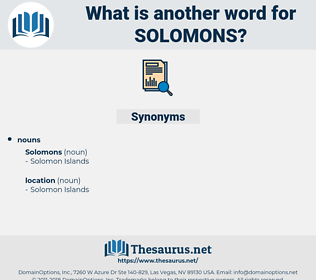solomons, synonym solomons, another word for solomons, words like solomons, thesaurus solomons