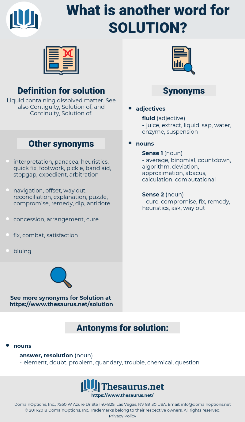 solution, synonym solution, another word for solution, words like solution, thesaurus solution