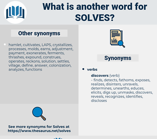 solves, synonym solves, another word for solves, words like solves, thesaurus solves