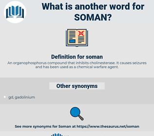 soman, synonym soman, another word for soman, words like soman, thesaurus soman