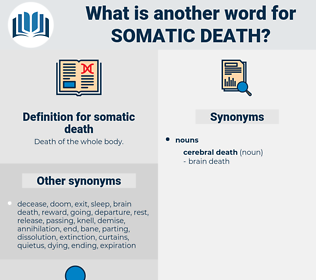 somatic death, synonym somatic death, another word for somatic death, words like somatic death, thesaurus somatic death