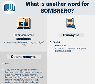 sombrero, synonym sombrero, another word for sombrero, words like sombrero, thesaurus sombrero