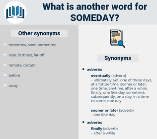 someday, synonym someday, another word for someday, words like someday, thesaurus someday