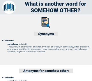 somehow other, synonym somehow other, another word for somehow other, words like somehow other, thesaurus somehow other