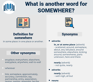 somewhere, synonym somewhere, another word for somewhere, words like somewhere, thesaurus somewhere