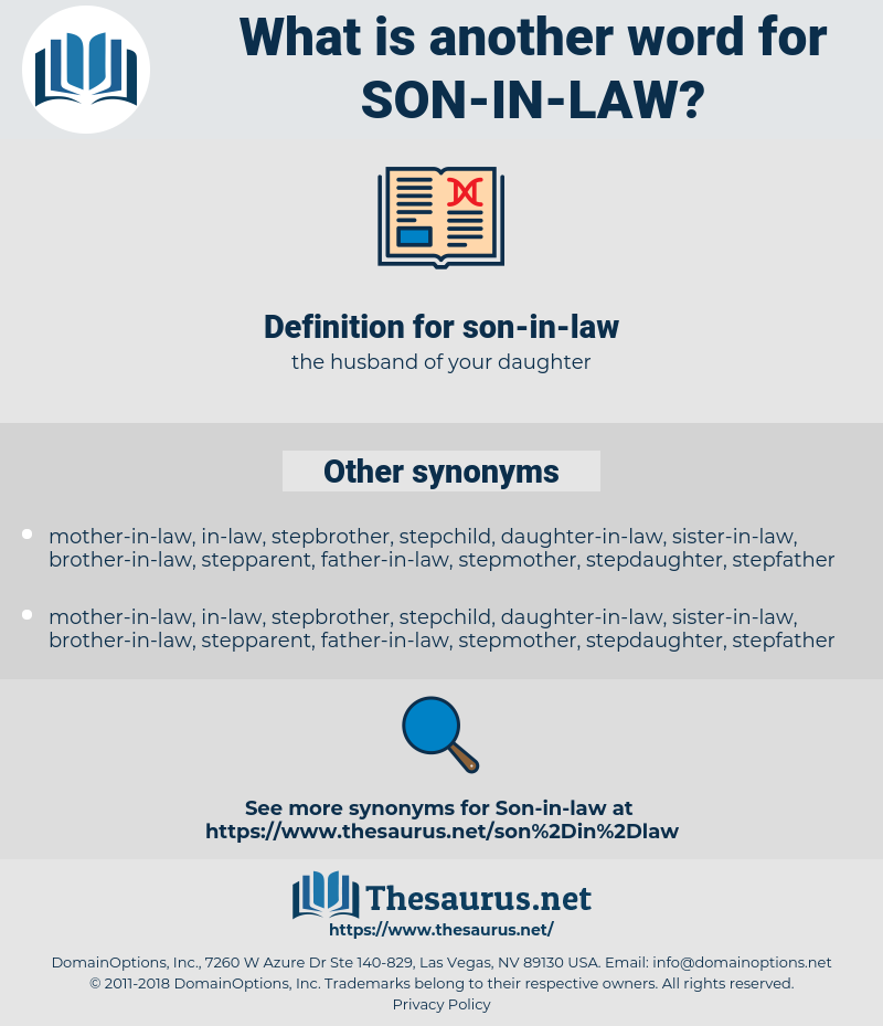 son-in-law, synonym son-in-law, another word for son-in-law, words like son-in-law, thesaurus son-in-law