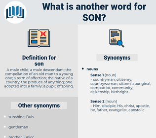 son, synonym son, another word for son, words like son, thesaurus son