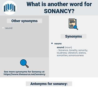 sonancy, synonym sonancy, another word for sonancy, words like sonancy, thesaurus sonancy