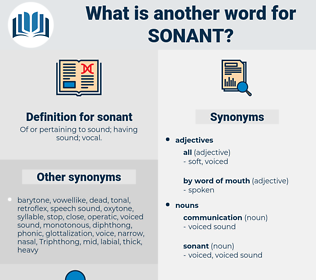 sonant, synonym sonant, another word for sonant, words like sonant, thesaurus sonant
