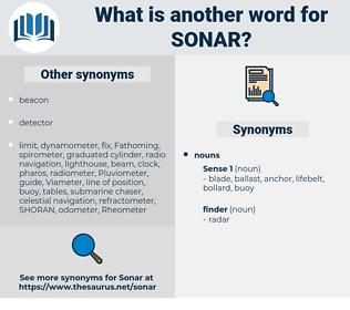 sonar, synonym sonar, another word for sonar, words like sonar, thesaurus sonar