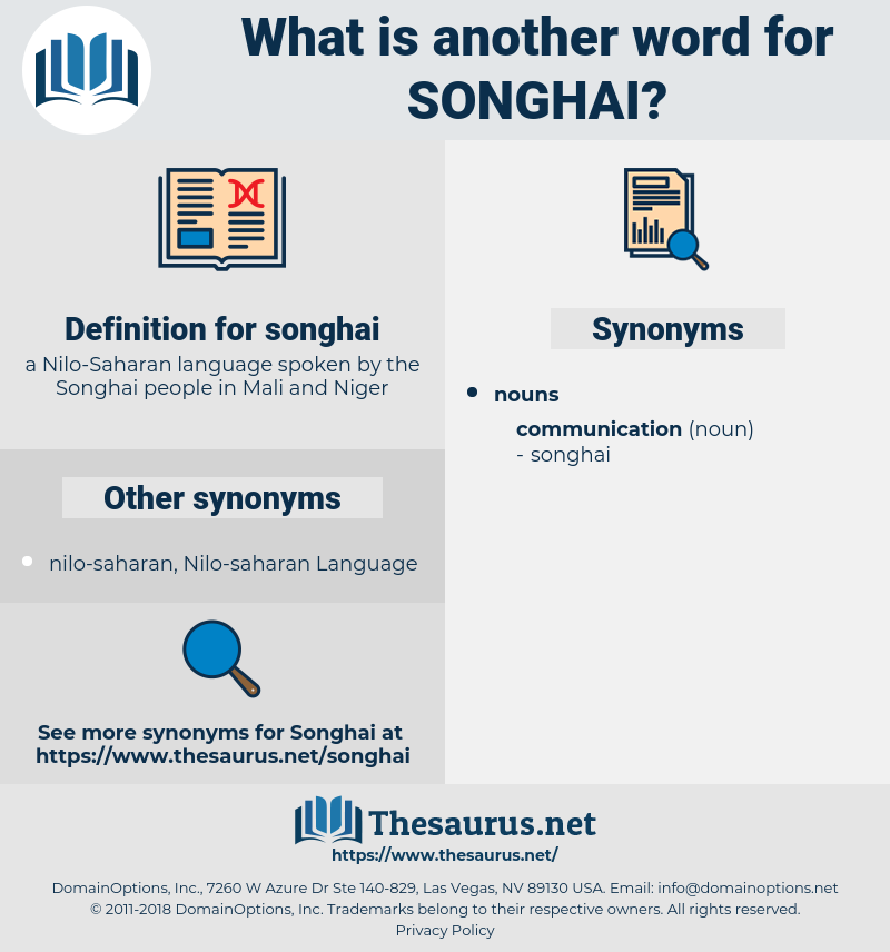 songhai, synonym songhai, another word for songhai, words like songhai, thesaurus songhai