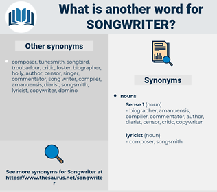 songwriter, synonym songwriter, another word for songwriter, words like songwriter, thesaurus songwriter