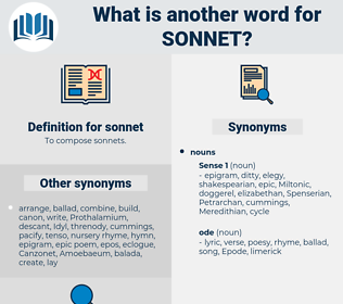 sonnet, synonym sonnet, another word for sonnet, words like sonnet, thesaurus sonnet