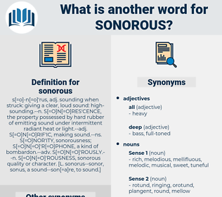 sonorous, synonym sonorous, another word for sonorous, words like sonorous, thesaurus sonorous