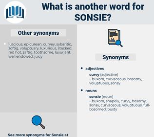 sonsie, synonym sonsie, another word for sonsie, words like sonsie, thesaurus sonsie