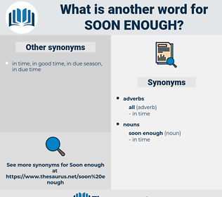 soon enough, synonym soon enough, another word for soon enough, words like soon enough, thesaurus soon enough