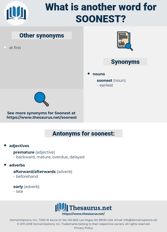 soonest, synonym soonest, another word for soonest, words like soonest, thesaurus soonest