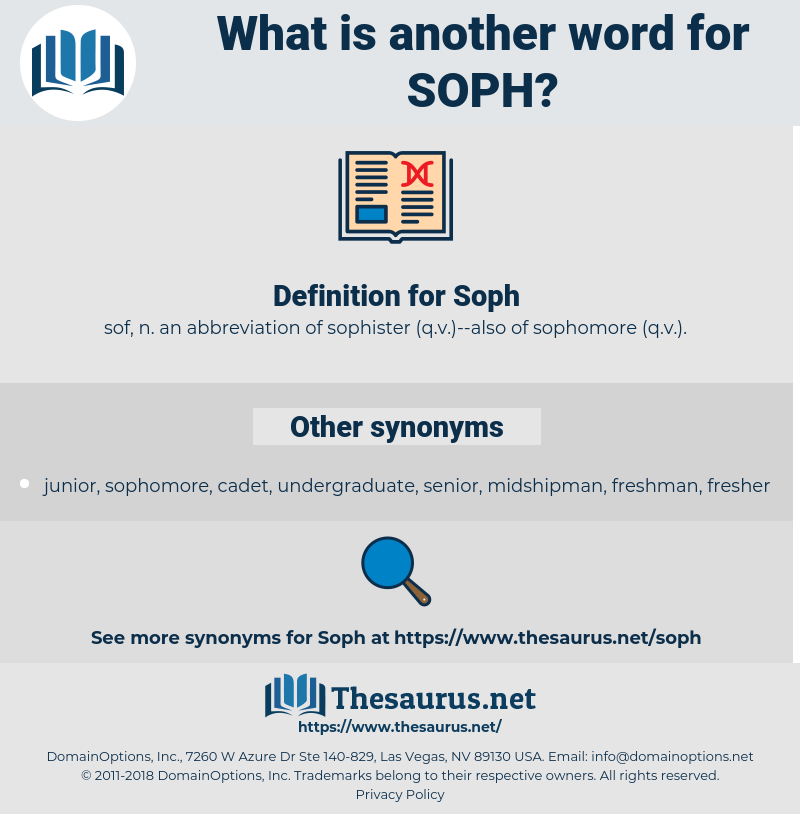 Soph, synonym Soph, another word for Soph, words like Soph, thesaurus Soph