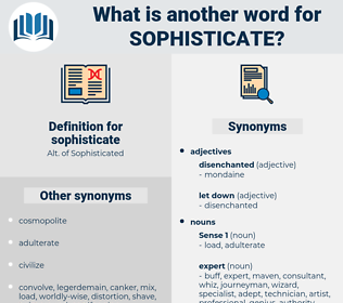 sophisticate, synonym sophisticate, another word for sophisticate, words like sophisticate, thesaurus sophisticate