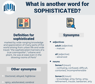 sophisticated, synonym sophisticated, another word for sophisticated, words like sophisticated, thesaurus sophisticated
