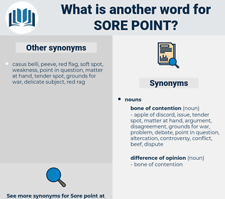 sore point, synonym sore point, another word for sore point, words like sore point, thesaurus sore point
