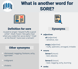sore, synonym sore, another word for sore, words like sore, thesaurus sore