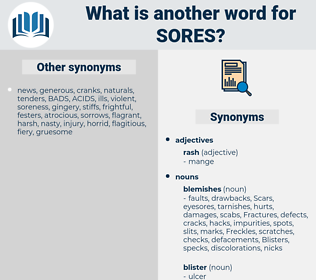 sores, synonym sores, another word for sores, words like sores, thesaurus sores