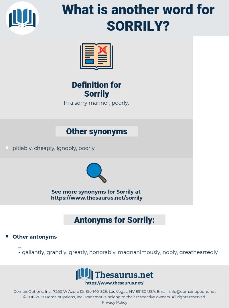 Sorrily, synonym Sorrily, another word for Sorrily, words like Sorrily, thesaurus Sorrily