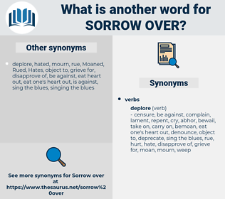sorrow over, synonym sorrow over, another word for sorrow over, words like sorrow over, thesaurus sorrow over