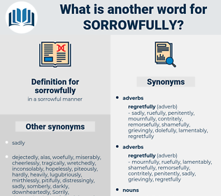 sorrowfully, synonym sorrowfully, another word for sorrowfully, words like sorrowfully, thesaurus sorrowfully