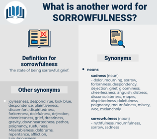sorrowfulness, synonym sorrowfulness, another word for sorrowfulness, words like sorrowfulness, thesaurus sorrowfulness