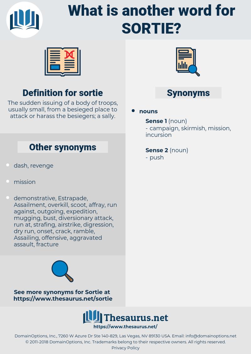 sortie, synonym sortie, another word for sortie, words like sortie, thesaurus sortie