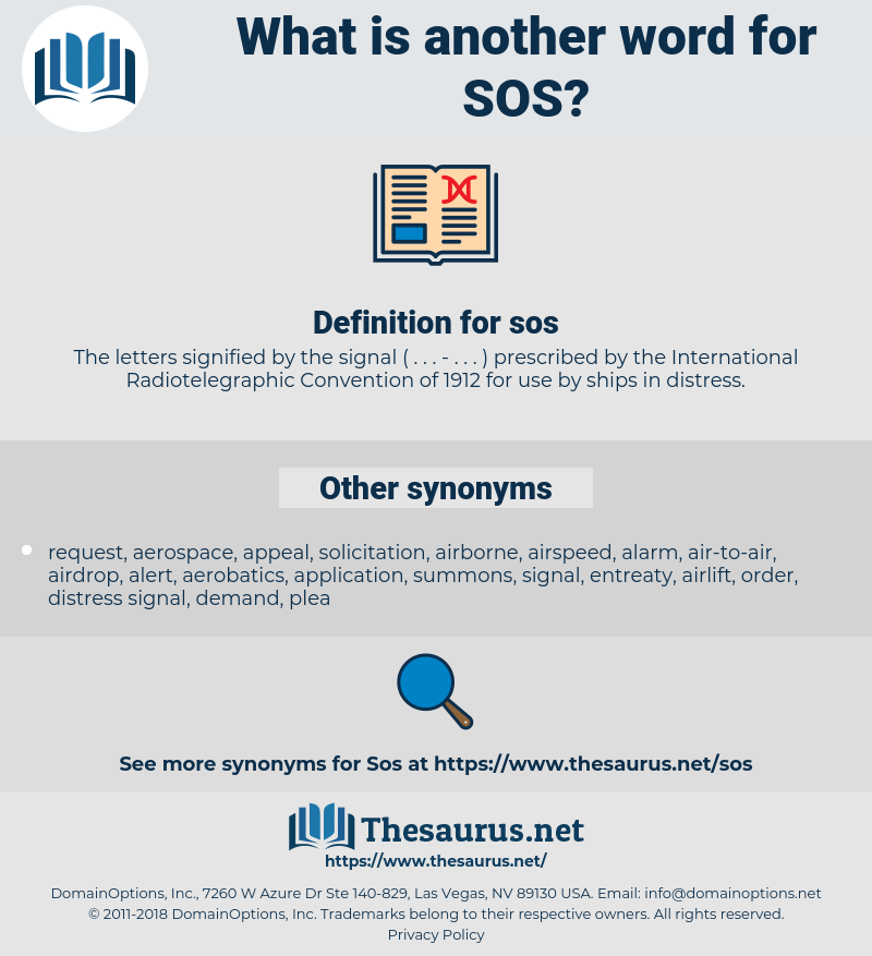 sos, synonym sos, another word for sos, words like sos, thesaurus sos