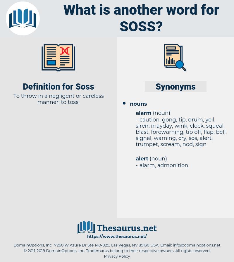 Soss, synonym Soss, another word for Soss, words like Soss, thesaurus Soss