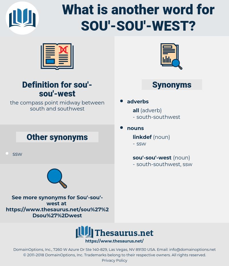 sou'-sou'-west, synonym sou'-sou'-west, another word for sou'-sou'-west, words like sou'-sou'-west, thesaurus sou'-sou'-west
