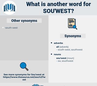 sou'west, synonym sou'west, another word for sou'west, words like sou'west, thesaurus sou'west