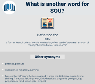 sou, synonym sou, another word for sou, words like sou, thesaurus sou