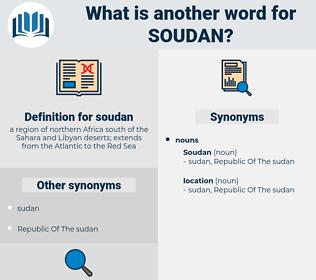 soudan, synonym soudan, another word for soudan, words like soudan, thesaurus soudan