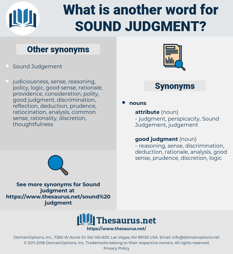 sound judgment, synonym sound judgment, another word for sound judgment, words like sound judgment, thesaurus sound judgment