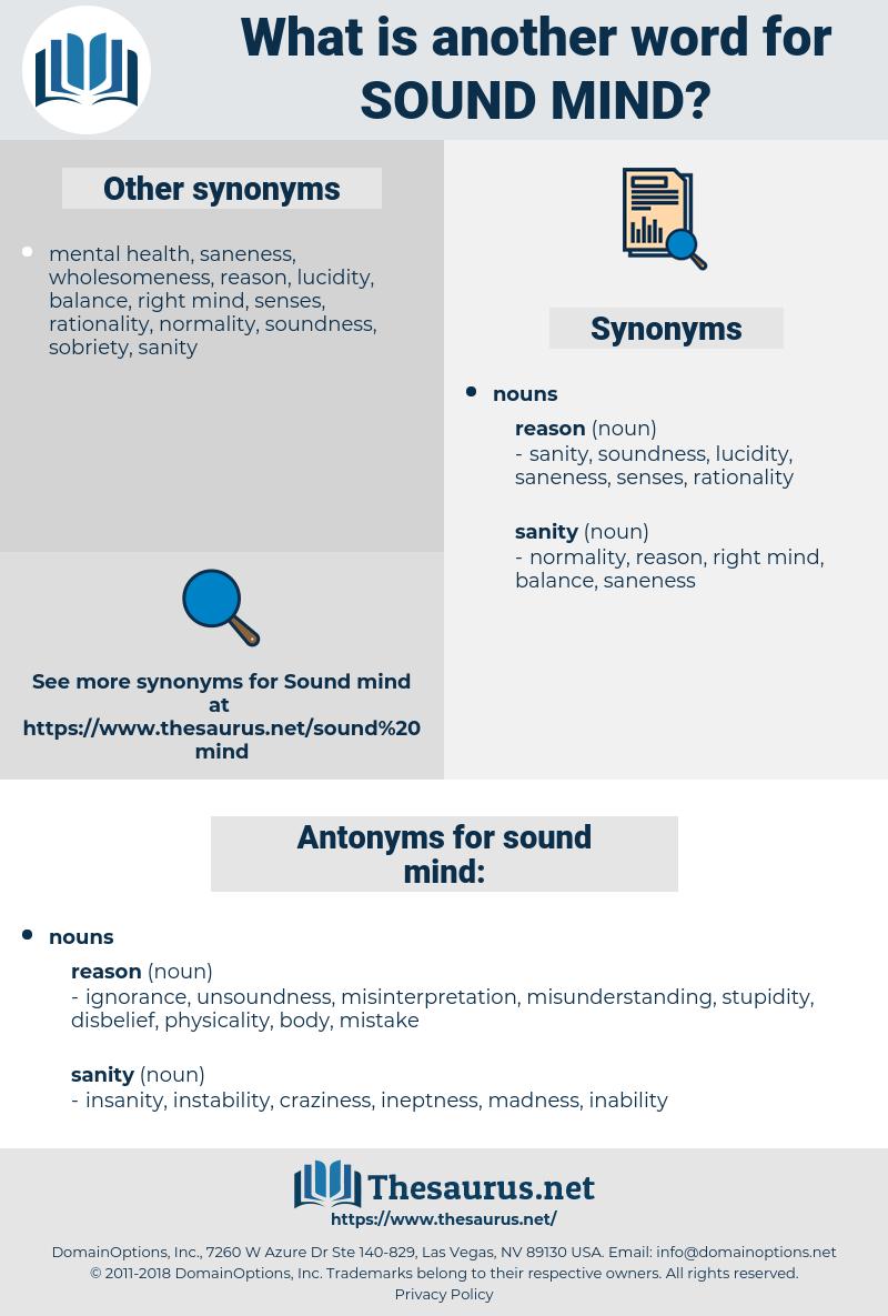 sound mind, synonym sound mind, another word for sound mind, words like sound mind, thesaurus sound mind